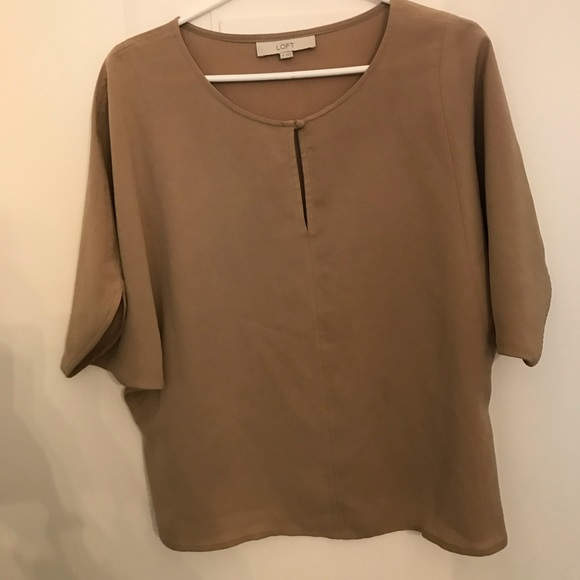 LOFT Tops - Loft camel coloured  top